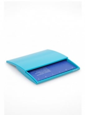 French Blue Business Card Case