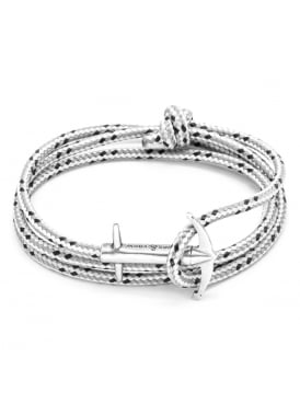 Admiral Grey Dash Sterling Silver and Rope Bracelet