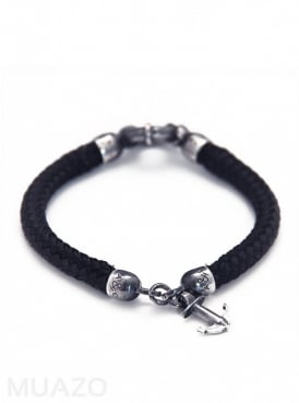 All Black Whitby Rope Bracelet