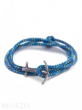 All Blue Admiral Rope Bracelet