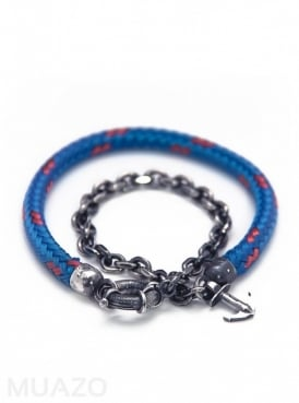All Blue Barmouth Rope Bracelet