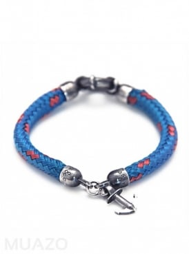 All Blue Whitby Rope Bracelet