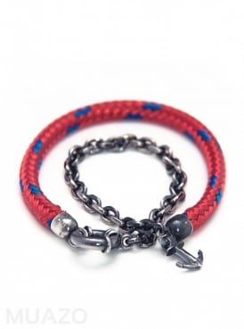 All Red Barmouth Rope Bracelet