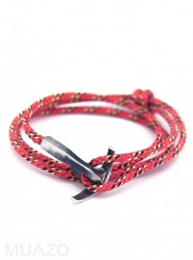 All Red Bruce Rope Bracelet