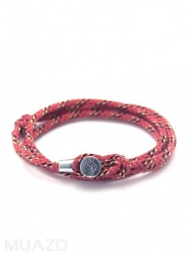 All Red Dundee Rope Bracelet