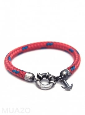 All Red Salcombe Rope Bracelet