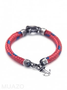 All Red Whitby Rope Bracelet