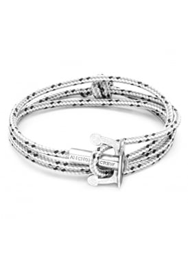 Union Grey Dash Sterling Silver and Rope Bracelet