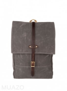 Gray 22 Ounce Waxed Cotton Twill Rucksack