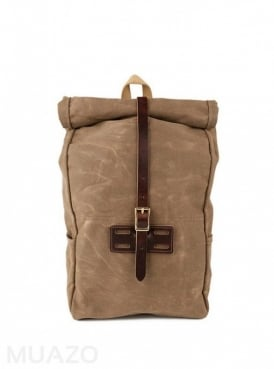 Ranger Tan 22 Ounce Waxed Cotton Twill Roll Top Rucksack