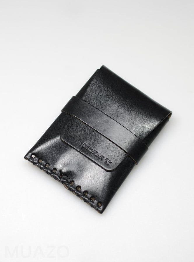 BillyKirk Black Leather Card Case