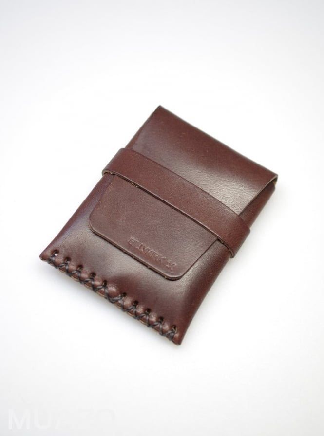 BillyKirk Brown Leather Card Case