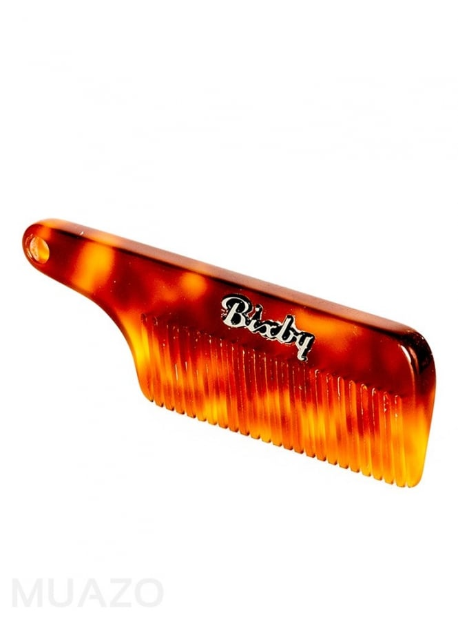 Bixby Brand Carson Amber Tortoise Beard and Moustache Comb