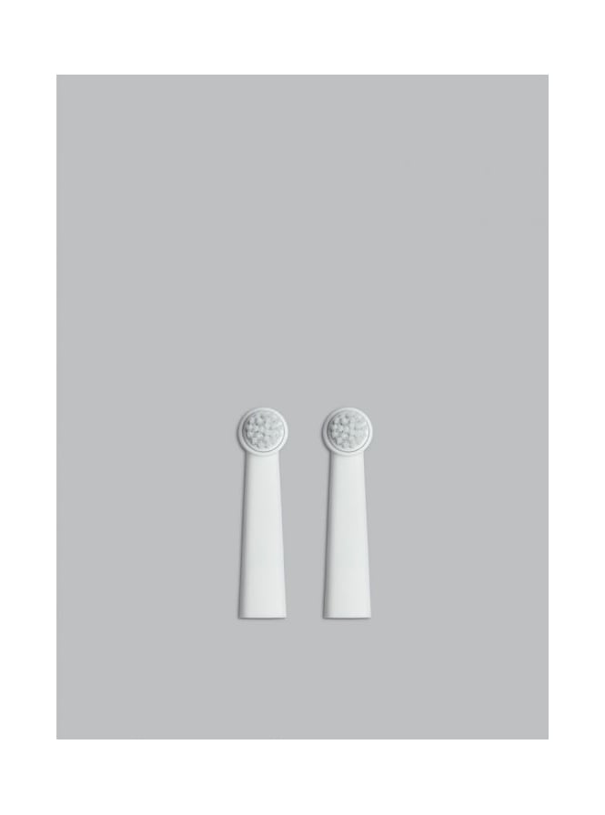 Bruzzoni 2 White Electronic Toothbrush Heads