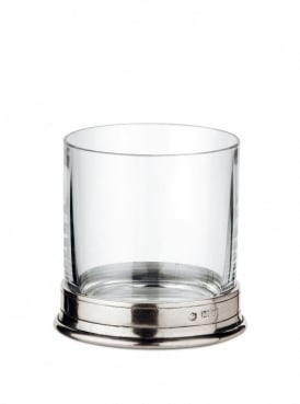 Cosi Tabellini Pewter Double Rocks Whisky Glasses