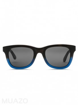 Detroit XL Matte Blue Sunglasses