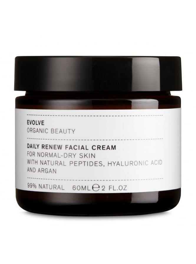 Evolve Organic Beauty Daily Renew Face Cream With Hyaluronic Acid and Argan 60ml