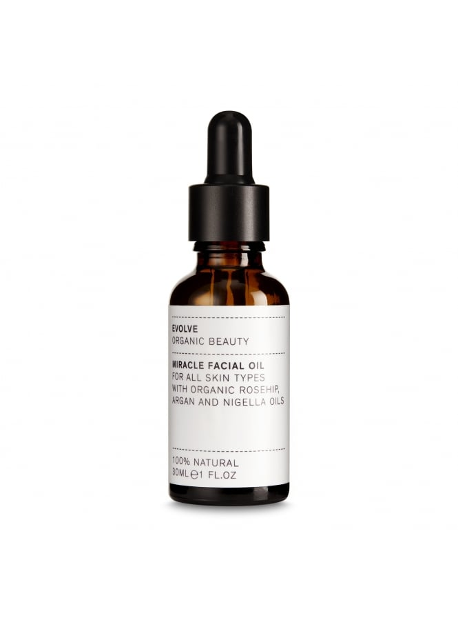 Evolve Organic Beauty Miracle Face Oil With Organic Rosehip, Argan and Nigella Oils 30ml