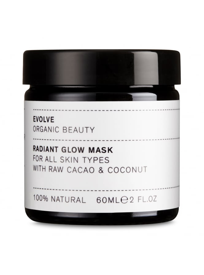 Evolve Organic Beauty Radiant Glow Face Mask With Raw Cacao and Coconut 60ml