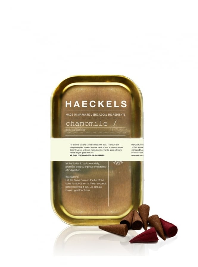 Haeckels of Margate Chamomile and Sea Lavender Incense Cones 25g