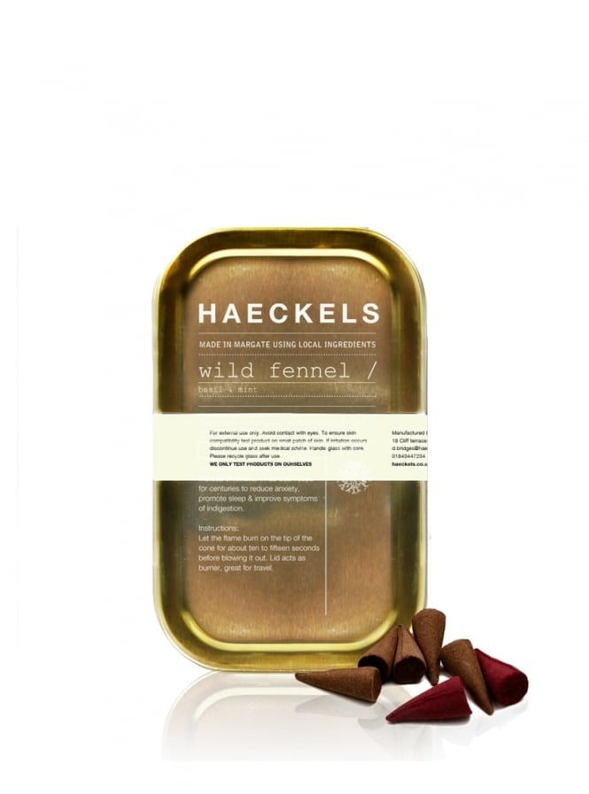 Haeckels of Margate Wild Fennel with Basil and Mint Incense Cones 25g