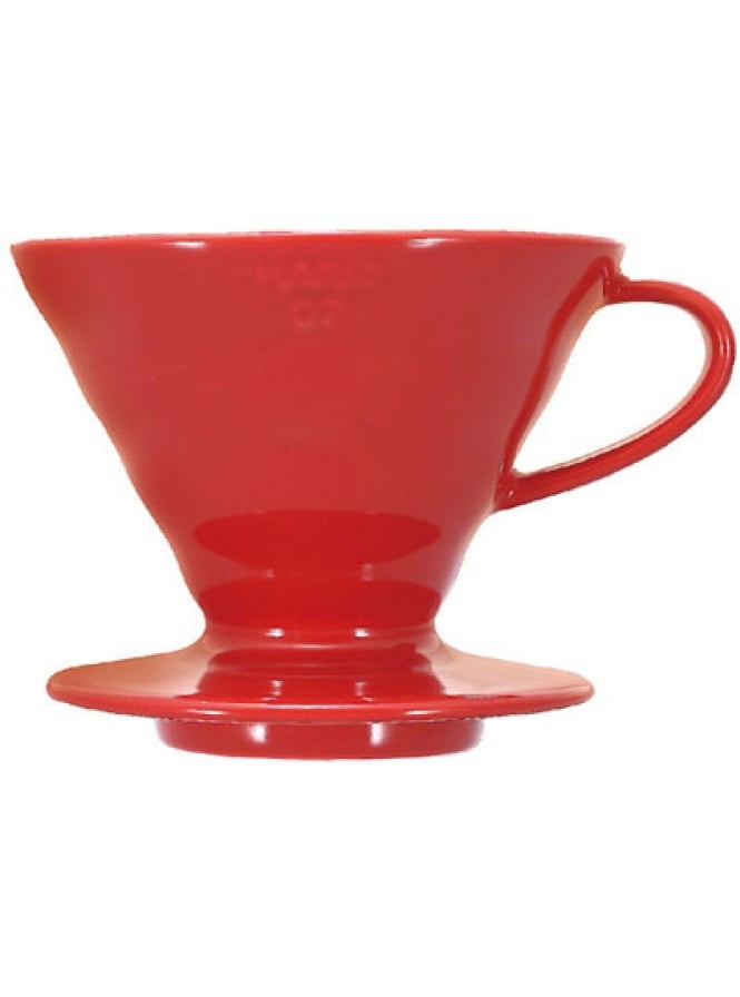Hario V60 Ceramic Coffee Dripper Red 02