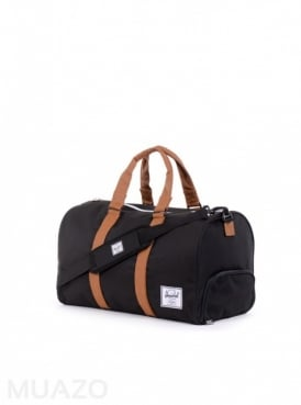 Herschel Supply Co Novel Black Tan Duffel Bag