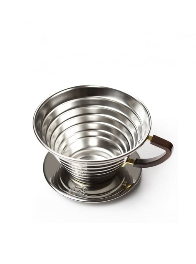 Kalita Coffee Brewing Wave Stainless Steel Drip Brewer 185