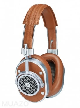 MH40 Brown Leather Headphones