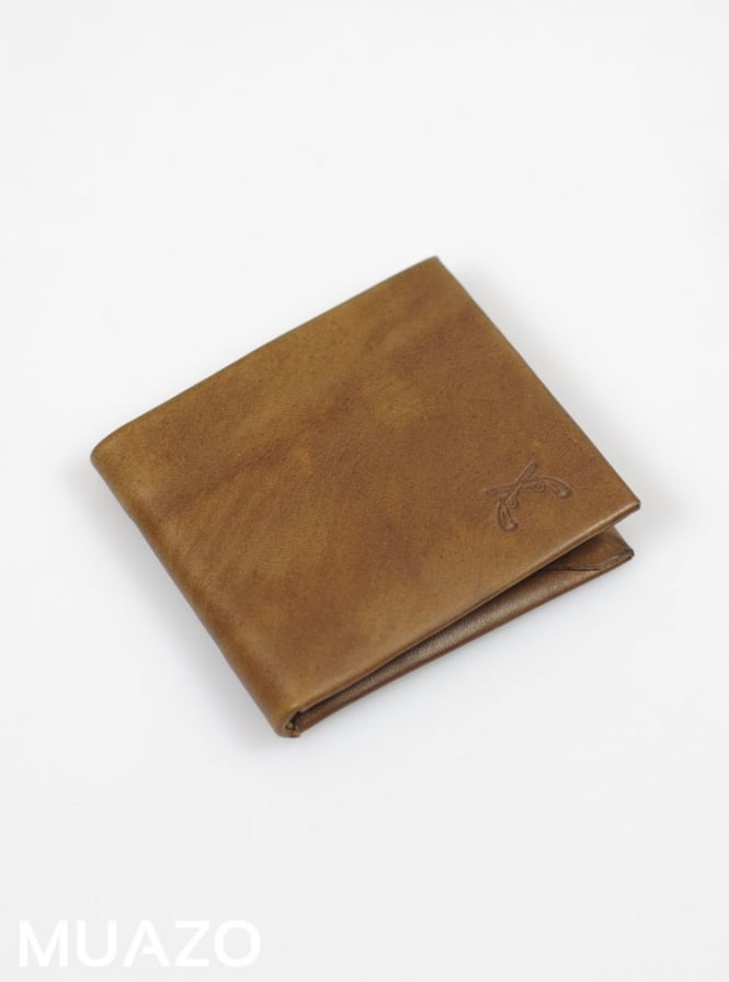 Maxx & Unicorn Vintage Brown Leather Wallet