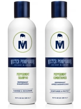 Mister Pompadour Peppermint Shampoo and Conditioner Kit