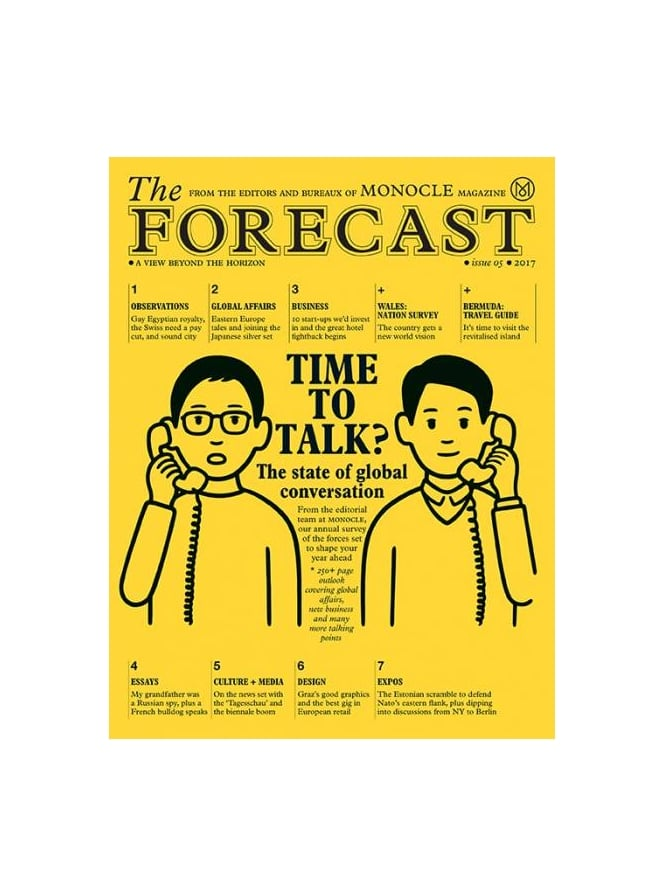 Monocle Forecast 2017 Issue 5 A View Beyond The Horizon