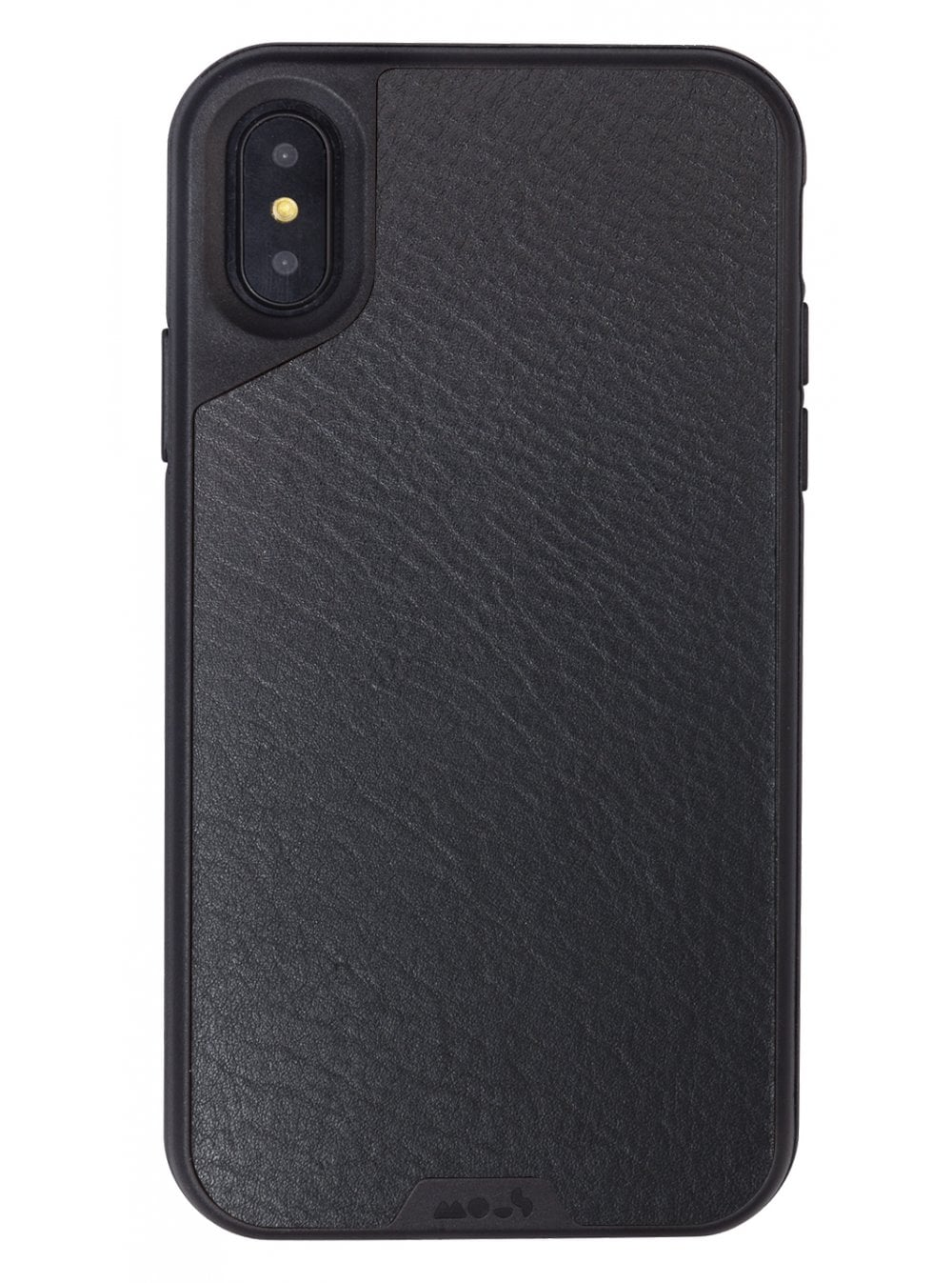 the latest ff3ee f932b Mous iPhone X Black Leather Protective Case