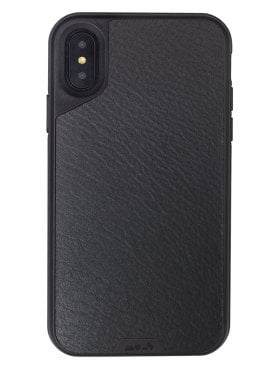 Mous iPhone X Black Leather Protective Case