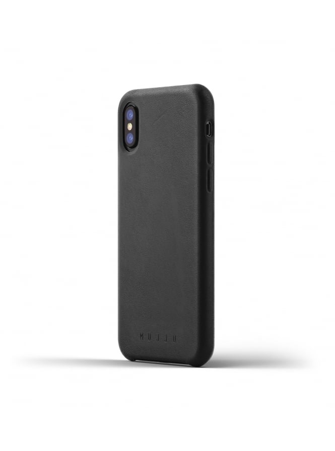 Mujjo iPhone X Black Leather Case