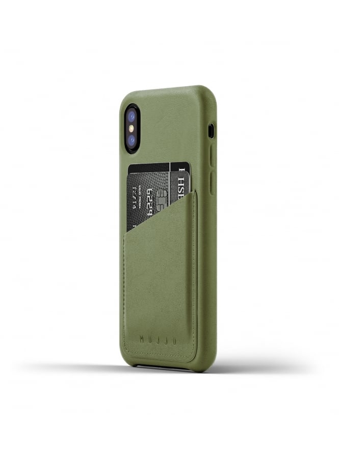 Mujjo iPhone X Olive Full Leather Case Wallet
