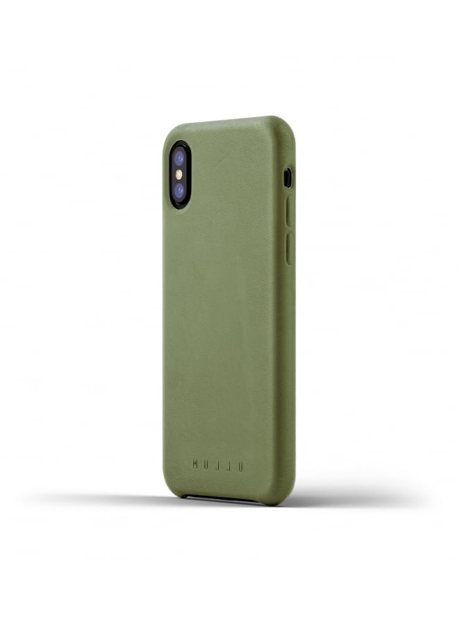Mujjo iPhone X Olive Leather Case