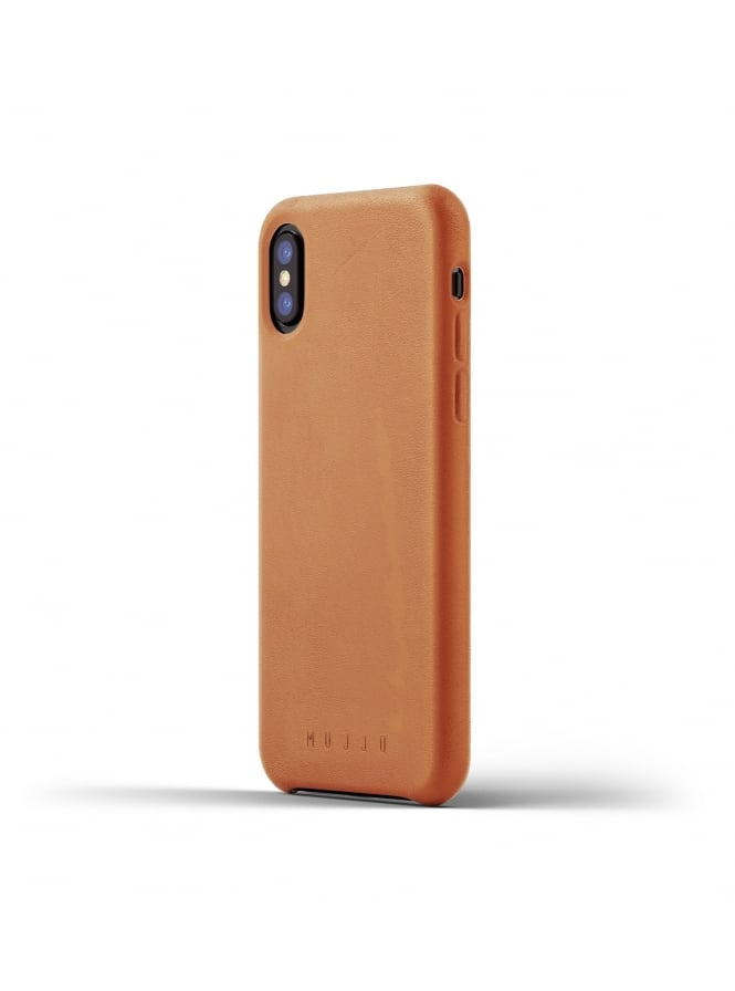 Mujjo iPhone X Tan Leather Case