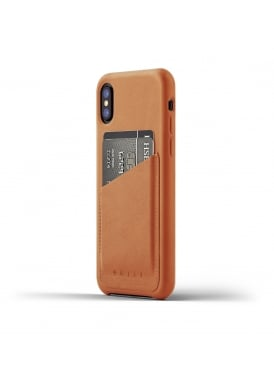 Mujjo iPhone X Tan Leather Case Wallet