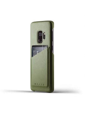 Samsung Galaxy S9 Olive Leather Case Wallet