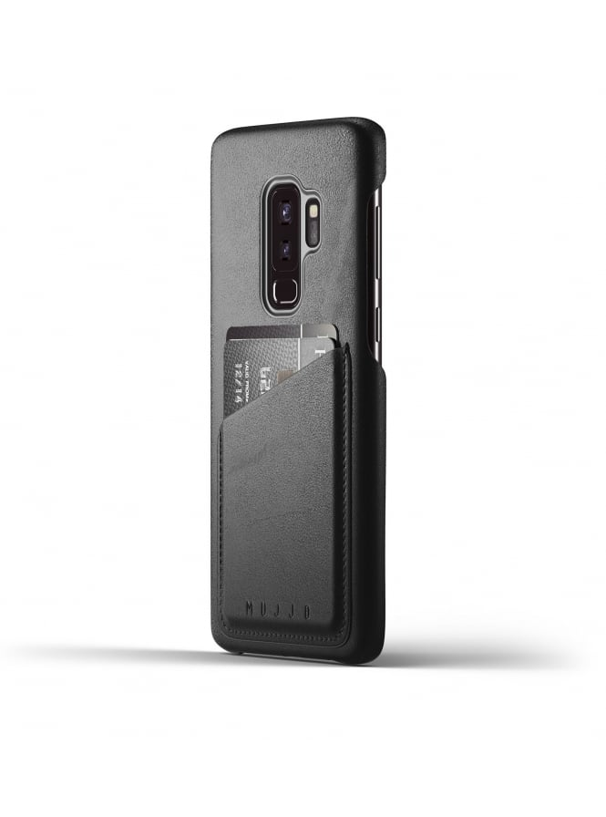 Mujjo Samsung Galaxy S9 Plus Black Leather Case Wallet