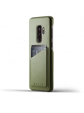 Mujjo Samsung Galaxy S9 Plus Olive Leather Case Wallet