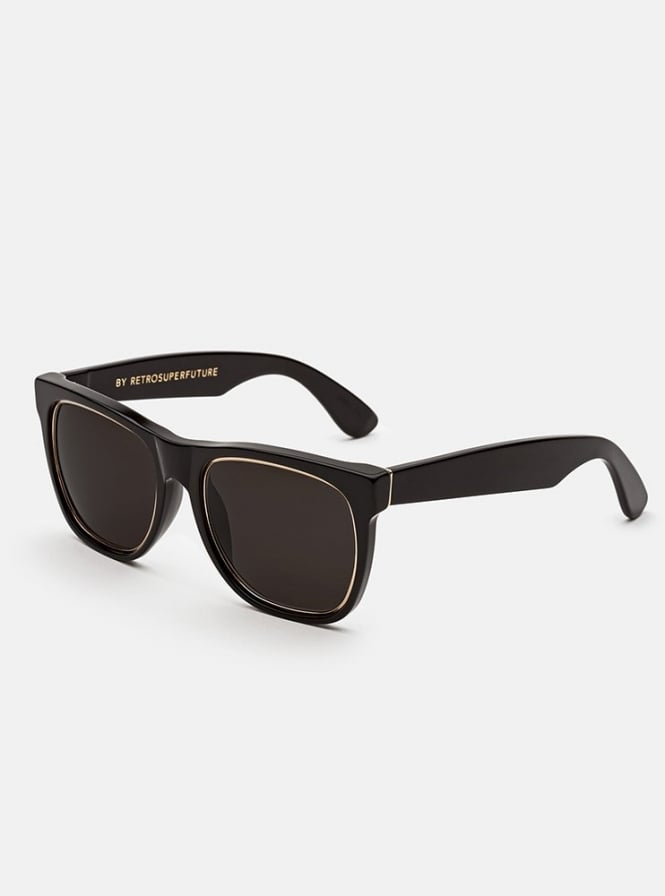 SUPER by Retro Super Future Classic Impero Black Gold Sunglasses