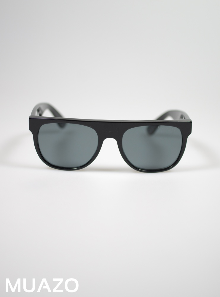 SUPER By Retro Super Future Flat Top Black Polarised Small