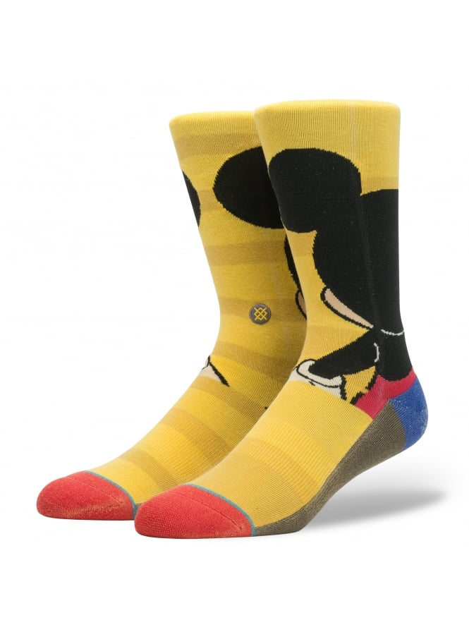 Stance Disney Mickey Mouse Socks Yellow