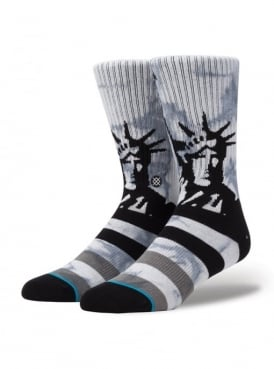 Lady Liberty Socks Grey