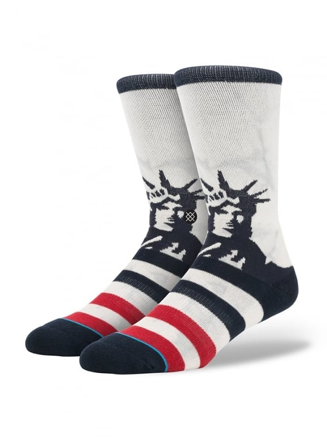 Stance Lady Liberty Socks White