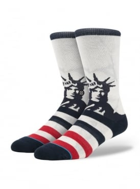 Lady Liberty Socks White