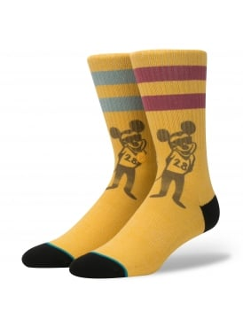 Pope Disney Micky Mouse Socks Gold