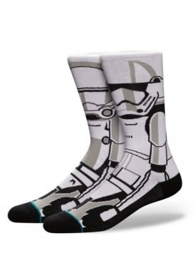 Star Wars Trooper 2 Socks White.